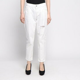 【アウトレット】ゲス GUESS DAMAGED TOMBOY WHITE DENIM PANT (WHITE)