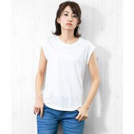 ミリアンデニ mili an deni 綿100%ノースリTシャツ (オフホワイト)