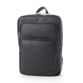 ラコステ LACOSTE MEN'S CLASSIC エンボス PVC バックパック (ブラック)