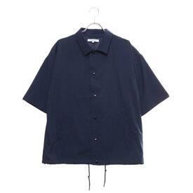 スタイルブロック STYLEBLOCK ドライストレッチメッシュ切替半袖コーチシャツ (ネイビー)