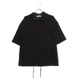 スタイルブロック STYLEBLOCK ドライストレッチメッシュ切替半袖コーチシャツ (ブラック)
