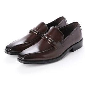 ジーノ Zeeno ビジネスシューズ メンズ 幅広 3EEE 防滑 ビットローファー スワールモカ 紳士靴 大きいサイズ対応 キングサイズ (ダークブラウン)