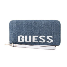 ゲス GUESS MADDY LARGE ZIP AROUND WALLET (DENIM)