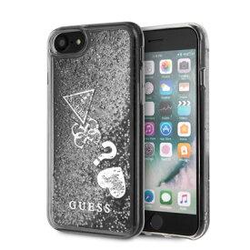 【アウトレット】ゲス GUESS HEARTS GLITTER CASE for iPhone 8 (SILVER) (SILVER)