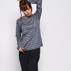 【アウトレット】ミレー MILLET レディース トレッキング 長袖Tシャツ LD WOOL BORDER T-SHIRT LS MIV01598