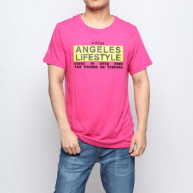 ゲス GUESS ANGELES LIFESTYLE TEE (CELL PINK)