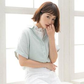 ユメテンボウ 夢展望 半袖スキッパーシャツ (ミントグリーン)