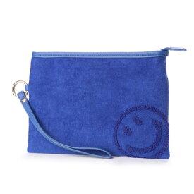 【アウトレット】クーコ COOCO ニコちゃん 刺繍 2WAY ミニ ショルダー バッグ (ブルー)