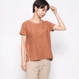 【アウトレット】ドレスキップ DRESKIP ビジュー付きシャツ (オレンジ)