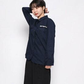 【アウトレット】ドレスキップ DRESKIP ビジュー付きシャツ (ネイビー)