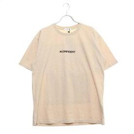 スタイルブロック STYLEBLOCK バックガールズフォトエンボスプリント半袖ビッグTシャツ (ベージュ)