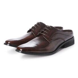 【アウトレット】ジーノ Zeeno ビジネスシューズ メンズ サンダル 紳士靴 ビット ローファー スリッパ スリッポン 革靴 通気性 クールビズ(D/Brown)