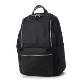 クーコ COOCO 9ポケット リュック 多機能 ポケット豊富 (ブラック)