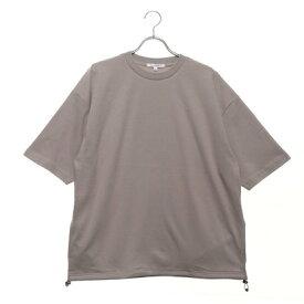スタイルブロック STYLEBLOCK 裾スピンドル5分袖ビッグTシャツ (ベージュ)
