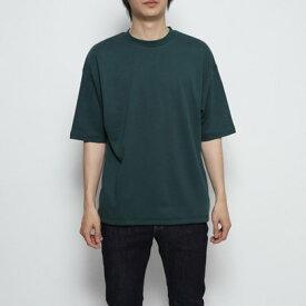 スタイルブロック STYLEBLOCK 裾スピンドル5分袖ビッグTシャツ (グリーン)