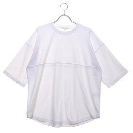 スタイルブロック STYLEBLOCK 綿ポンチ5分袖ビッグTシャツ (オフ)
