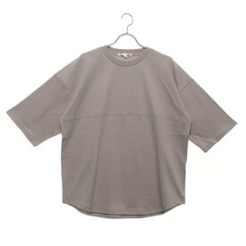 スタイルブロック STYLEBLOCK 綿ポンチ5分袖ビッグTシャツ (ベージュ)