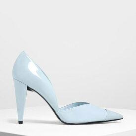 【アウトレット】ポインテッドトゥ ドルセイパンプス / Pointed Toe D'Orsay Pumps (Light Blue)