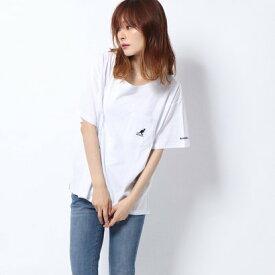 ラナン Ranan (KANGOL)ポケット付Tシャツ (オフホワイト)