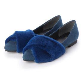リーカ RiiiKa クロスファーフラットパンプス (blue)