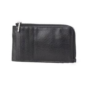 オティアス Otias バッファローレザー ファスナーポケットカードケース (ブラック)