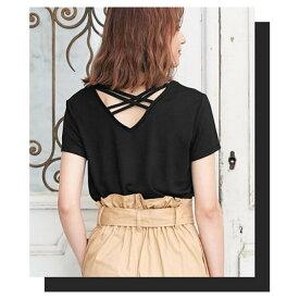 コウベレタス KOBE LETTUCE バッククロスVネックTシャツ [C3257] (ブラック)