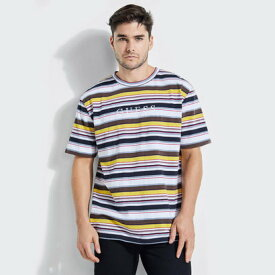 【アウトレット】ゲス GUESS Originals ASHTON STRIPED CREW TEE (ASHTON STRIPE NAVY MULTI)