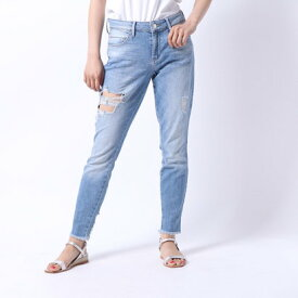 ゲス GUESS DESTROYED SEXY CURVE SKINNY DENIM PANT (KAYTON WASH)