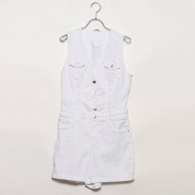 【アウトレット】ゲス GUESS BELLA DENIM ROMPER (OPTIC WHITE)