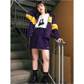 【アウトレット】X-girl MINISKIRT PURPLE