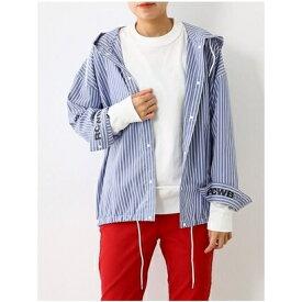 【アウトレット】RODEO CROWNS WIDE BOWL PEACフードシャツ 柄ブルー
