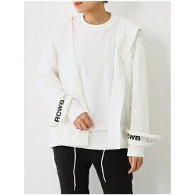 【アウトレット】RODEO CROWNS WIDE BOWL PEACフードシャツ ホワイト