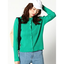 【アウトレット】X-girl KNITCARDIGAN GREEN