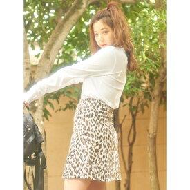 【アウトレット】ハニーミーハニー HONEY MI HONEY leopardskirt/レオパードスカート (ブラウン)