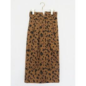 【アウトレット】ハニーミーハニー HONEY MI HONEY leopardprintskirt/レオパードプリントスカート (ブラウン)