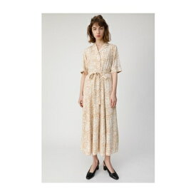 moussy FLOWERPRINTドレス 柄ベージュ