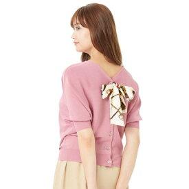 パターン フィオナ PATTERN fiona ドルマンスカーフ付き2Wayニットプルオーバー (Rピンク)