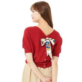 パターン フィオナ PATTERN fiona ドルマンスカーフ付き2Wayニットプルオーバー (レッド)