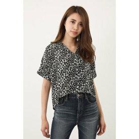 【アウトレット】リエンダ rienda バックテールオープンカラーシャツ (マルチ1)