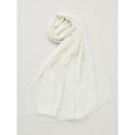 【欧州航路】フラワー刺繍大判ストール ホワイト