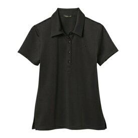 【アウトレット】rienda suelta 無地半袖ポロシャツ ブラック