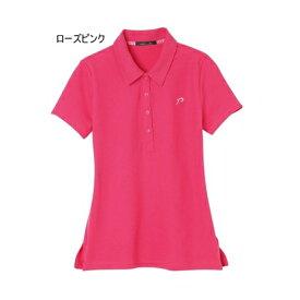 rienda suelta rマーク刺繍半袖ポロ ローズピンク