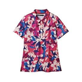 rienda suelta SUMMERFLOWER2半袖ポロシャツ レッド