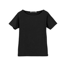 コウベレタス KOBE LETTUCE Bネック前身二重半袖Tシャツ [C365D] (ブラック)
