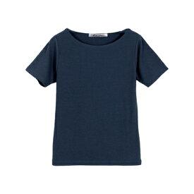 コウベレタス KOBE LETTUCE Bネック前身二重半袖Tシャツ [C365D] (ネイビー)