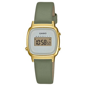 【ネット限定】CASIO STANDARD / LADY'S DIGITAL / LA670WFL-3JF (オリーブ×ゴールド)