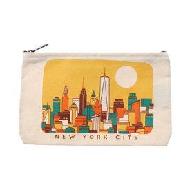 ラキュート LA CUTE 【STRAND BOOK STORE】NYC Yellow Skylineポーチ (WHITE)