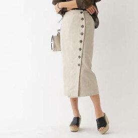 アクアガールレピスリー aquagirl/l'epicerie チノフロントボタンスカート (ナチュラル)