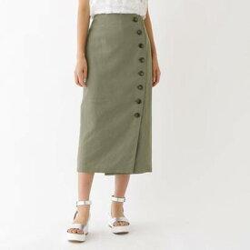 アクアガールレピスリー aquagirl/l'epicerie チノフロントボタンスカート (モスグリーン)