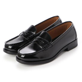 ジオアンドジア GIO&GIA レディース 学生靴 スクール ローファ 軽量 通勤 通学 撥水加工 軽量 防滑 防臭 衝撃緩衝性 履き心地 (ブラック)